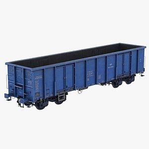 Open wagon Eaos PKP blue 3D model