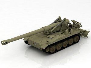 3D M110 A2 Howitzer Tank