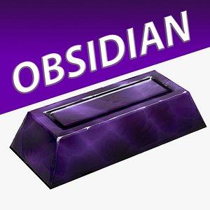 3D Obsidian Ingot