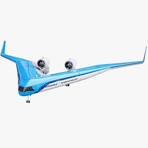 3D Flying V Plane