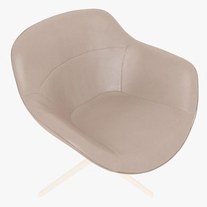 Cassina 277-22 Auckland Arm Chair Beige Leather White Body model