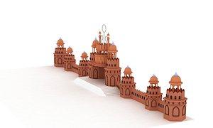 3D castle intro model