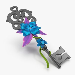 flower key 3D model
