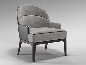 3D tirolo aston lounge chair model