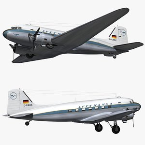 DC3 Lufthansa Vintage Livery 3D