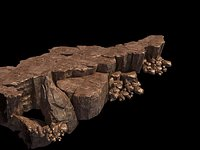 Modular cliff Low-poly 59