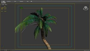 3D coconut tree model