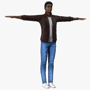 Teenager Light Skin Street Outfit T Pose model