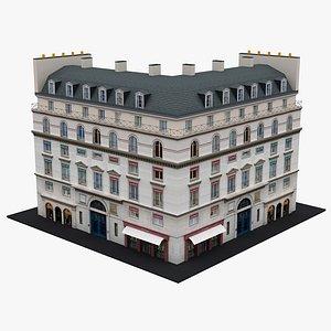 Typical Parisian Apartment Building 22 3D model