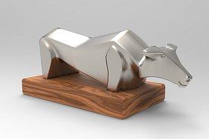 bull object 3D model