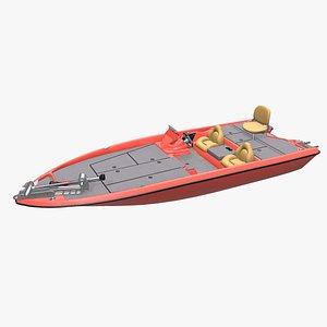 bass fishing pbr 3D model