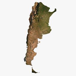 3D Relief map of Argentina 3D model