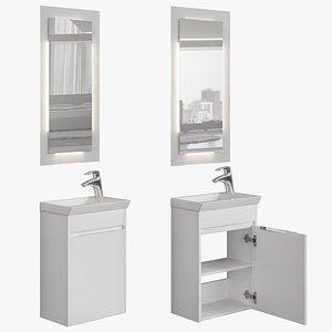 Furniture set Dover 45 white 3D model
