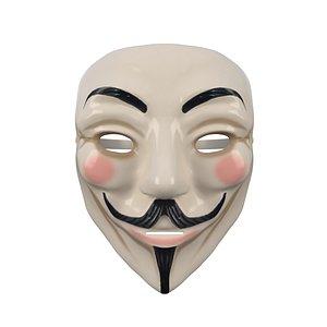 3D 3D Guy Fawkes mask 02 model