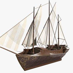Venetian Xebec 3D model