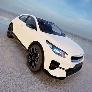 3D 2021 Kia XCeed model