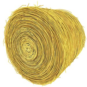 Roll Hay Straw Bale 3D
