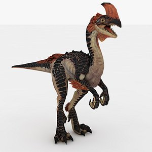 3D Dino Rigged and Animated model