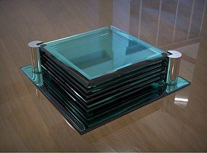 3D coaster glass