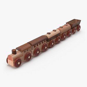 Wooden Toy Train Colection 1 3D