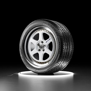 Car wheel WORK MEISTER L1 rim with TOYO PROXES 4 PLUS tire model
