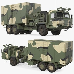 Command and Control Vehicle 50K6 Vityaz Camo model