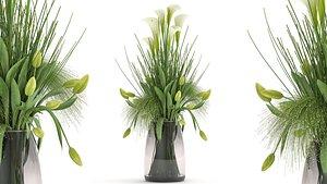 3D model Flower bouquet in a Vase 115