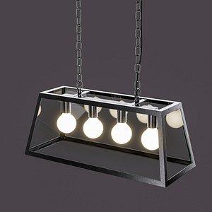 ceiling lamp captiva qazqa 3D model