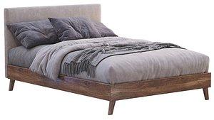 3D Florence Upholstered Ottoman Bed Frame