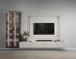 Wall TV set 3 3D model