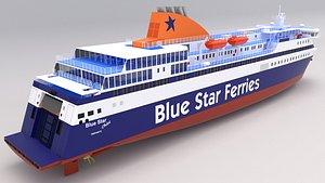 blue star chios 3D model