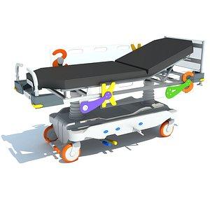 3D model Stretcher Trolley for Kids