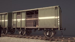 railway covered goods wagon model