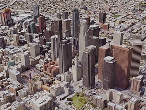 3D angeles downtown city model