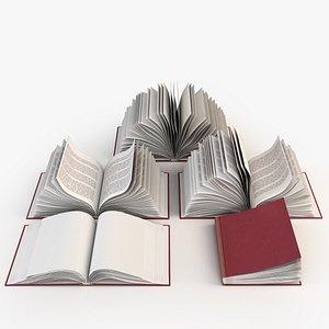 open books 3D model