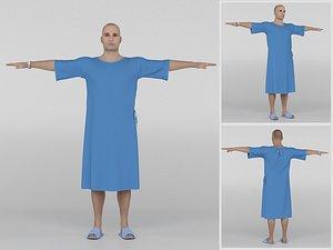 3D Patient with Blue gown