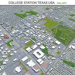 3D College Station Texas USA model