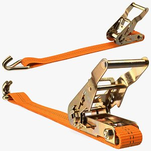Tie Down Strap with Double J Hook model