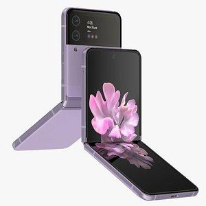 Samsung Galaxy Z Flip 3 Lavender 3D