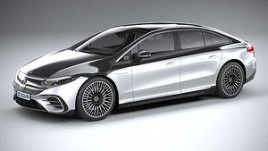 3D Mercedes EQS AMG 2021