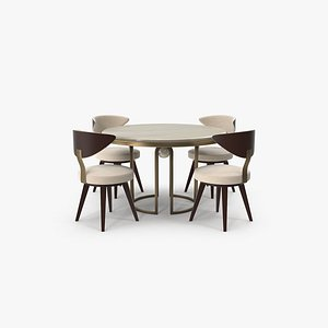 Dining Table Set 3D