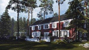 3D NORWAY HOUSE model