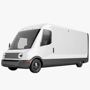 3D Generic Electric Delivery Van 01
