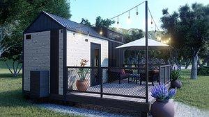 3D modern tiny house home