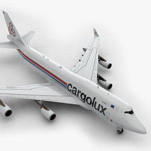 3D Boeing 747 CARGOLUX Airlines L1384