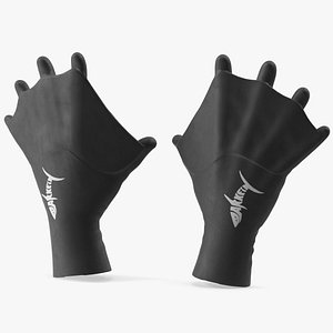 Darkfin Webbed Power Swimming Gloves Dry 3D model