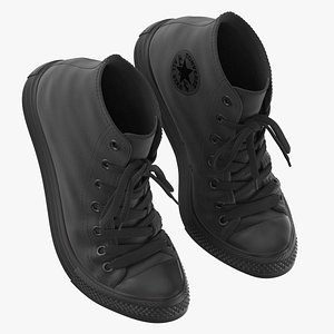 Basketball Leather Shoes Bent Chuck Taylor 3D model