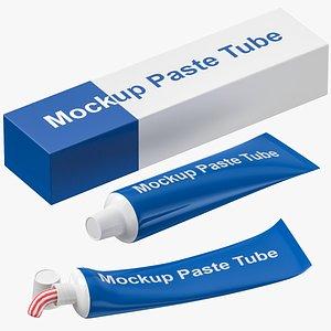 tube paste set 3D