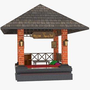 arabic mosque 3D model
