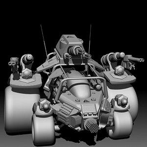 vehicle asset 3D model
